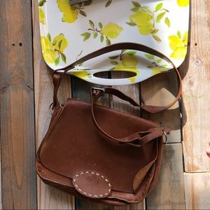 Vintage banana republic leather bag